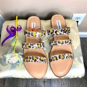Steve Madden Snake Print Sandals Women's Slip on